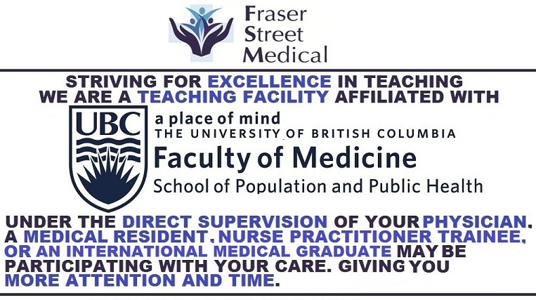 Fraser Street Medical – Vancouver Medical Clinic – Full service family  practice medical clinic in Vancouver, British Columbia